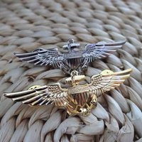Metal spot aviation - Spot copper USMC aviation badge gold silver anchor accessories X2 cm