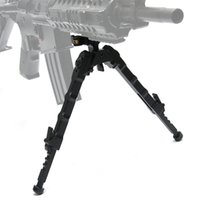 Bestself Tactical Hunting Rifle Bipod BR-4 Bolt Action Quick Detach Bipod ajusté 20mm Picatinny Rail for Rifle Scope Black Tan