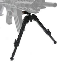 siyah tüfekler toptan satış-Bestsight Taktik Av Tüfeği Bipod BR-4 Cıvata Eylem Hızlı Ayır Bipod fit 20mm Picatinny Ray için Tüfek Kapsam Siyah Tan