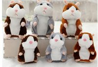 15cm Lovely Talking Hamster Speak Talk Sound Record Repeat Stuffed Peluche Animal Kawaii Hamster Brinquedos Para Crianças c281
