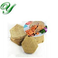 Wholesale Steamed Pot - woven bamboo table placemats coaster 3sizes insulated hot mat pot holder steaming mesh vegetables folding steamer basket liners crafts decor