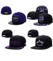 Wholesale Snap Backs King - Hot Newest Fashion Sacramento Adjustable Kings Snapback Hat Thousands Snap Back Hat Basketball Cheap Hat Adjustable men women Baseball Cap