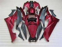 juegos de carenado r6 al por mayor-Ajuste 100% para carenados moldeados por inyección Yamaha YZF R6 2006 2007 vino rojo negro carenado YZFR6 06 07 OT27