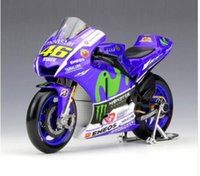 Wholesale Bicycle Diecast Toys - Collectible 1:18 YAMAHA No.46 Motorcycle Model Valentino ROSSI 2015 Moto GP YZR M1 Diecast Moto Kids Toys Collection Gifts