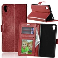 """Wholesale Xperia P Phone Case - 3D Relief Leather Case for Sony Xperia X Performance F8131 Dual 5.0"""" inch Flip Case Phone Leather Cover for Sony XP X P F8132"""