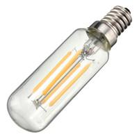 araña blanca vintage al por mayor-Vintage Edison Bombilla LED luz E14 T25 4W Ahorro de energía 400Lumen Retro lámpara bombilla iluminación de la lámpara Pure Warm White AC220V