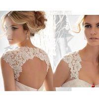 Wholesale Beaded Sequin Bolero - Bridal Wraps & Jackets 2017 Custom Made Lace Short Bridal Bolero Wraps Exquisite High Quality Sequins Beaded Cap Sleeves Wedding Jackets