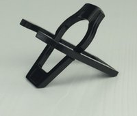 prateleira dobrável venda por atacado-Prateleira preta do suporte da cremalheira do suporte da tubulação da dobradura do único plástico 50 PCes / lote