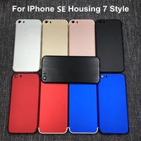 Wholesale Flip Door - Colorful Back Cover Housing For iPhone SE Like 7 Aluminum Metal Back Battery Door Cover Replacement to iPhone 7 style