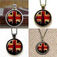 Wholesale british american flags - 10pcs British Flag London United Kingdom Jewelry Pendant Necklace keyring bookmark cufflink earring bracelet
