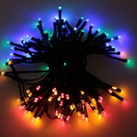 Wholesale Best Outdoor Christmas String Lights - Wholesale- Best Selling 17m 100 LED Colorful Waterproof Outdoor Solar LED Light Fairy String Garden Christmas Party