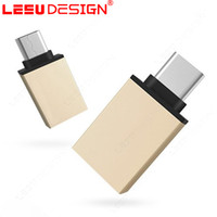 Wholesale Otg Adapter Iphone - New Metal micro USB 3.1 Type C OTG Adapter Male to USB 3.0 Converter Adapter OTG Function for Macbook Chromebook for cell phone iphone 7