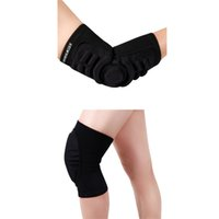 Großhandel- Ellenbogen-Knieschoner Skifahren Tanzen Radfahren Kneepads Mountain Bike Downhill Motorrad Kneepads Guard Schwamm Soft Elbow Protector