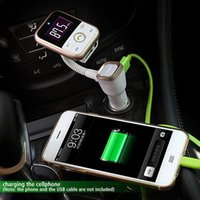 Wholesale Remote Control Car Pen - Bluetooth Car Kit MP3 Player Handsfree Wireless FM Transmitter Radio Adapter USB Charger + LCD Remote Control With Retail Box free shipping