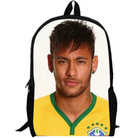 sports avatars - Picture icon backpack Brazilians Neymar schoolbag Colorful avatar daypack Football star rucksack Fans school bag Soccer forward day pack