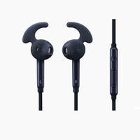 weißer apfel entfernt großhandel-S7 Kopfhörer mit Mikrofon 3.5mm verdrahteter Kopfhörer-tragbarer Sport, der Stereokopfhörer-Fernbedienung mit schwarzer oder weißer Farbe laufen lässt