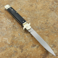 Wholesale Bone Folding Knife - Italy Akc classical horn handle leverletto camping Collecting hunting knife knives copies 1pcs freeshipping