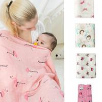 tierdesign babydecke großhandel-Baby Musselin Decke Neugeborenen Aden Anais Ins Wrap Kleinkind Bambus Badetücher Tier Parisarc Schlafsäcke Bettwäsche 120 * 120 cm 23 Design KKA1462