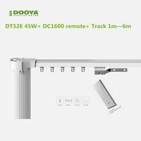 Wholesale Curtains Motors - Wholesale-Original Dooya electric curtain system curtain motor DT52E 45w+ remote control+motorized aluminium Curtain tracks 1m-6m