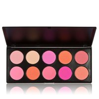 Wholesale-Hot 10 Farben Blushers Palette Make-Up Erröten Gesicht Rouge Pulver Palette Kosmetik Professionelle Make-Up Produkt