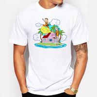 Wholesale Cartoon Beach Shorts - Men's Clothing Rick and Morty Man t shirt Summer holidays Beach Printed Anime T-shirts White Printed Casual Cartoon Funny tee shirt homme