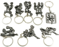 Wholesale Women Sexy Figures - Novelty Naughty Erotic Sexy Adult Keychain Moveble Keyrings Men and Women Couple Nude Make Love Game Funny Joke Lover Gift
