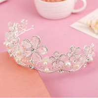 Wholesale Dazzling Crown Princess Tiara - Free Shipping!In Stock! Low Price Dazzling Crown Party Wedding Bridal Accessories Princess Crystal Tiaras Cheap High Quality