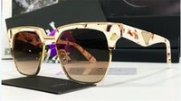 italienische gläser großhandel-Italienischer Luxusmodemarke-Designergläser PD 20T quadratischer halber Rahmenrahmen und spezielle Entwurfsqualität des Metalls mit ursprünglichem Kasten