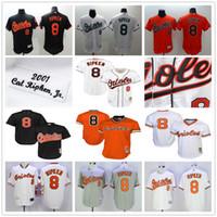 Wholesale Baltimore Orioles Jersey Xl Black - Throwback Baltimore Orioles #8 Cal Ripken Jr 1985 1988 1989 2001 Cooperstown Mesh Batting Practice Baseball Jerseys Black White Gray Orange