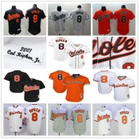 Baseball orioles orange - Throwback Baltimore Orioles Cal Ripken Jr Cooperstown Mesh Batting Practice Baseball Jerseys Black White Gray Orange