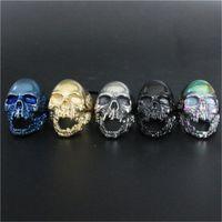 Wholesale Dead Skull - 3pcs lot New Size 7-15 Cool Big Biker Skull Ring 316L Stainless Steel Fashion jewelry Men Walking Dead Skull Ring