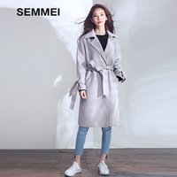 Wholesale Wool Cashmere Coat Fabric - 2017 Winter New Long Cashmere Coat, Female Korean Imported Fabric, Long Wool Coat , Women's Wool
