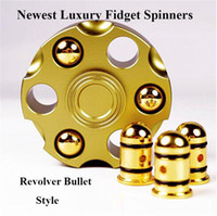 Wholesale Luxury Toys For Kids - Newest Luxury Fidget Spinner Brass Metal EDC Creativity Revolver Bullet Detachable Hand Spinner Decompression Toys for Adults