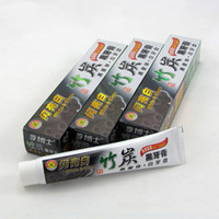 Wholesale 2017 Hot Bamboo Charcoal Toothpaste Whitening Black Oral Hygiene high quality tooth paste DHL