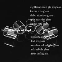 Wholesale Atty Tank - Elabo digiflavor siren 25 karma rdta split atty alpine oppo fodi v2 revolver reloaded 2 sxk nebula reux tank pyrex replacement glass tube