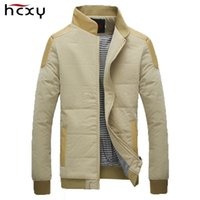 Wholesale Stand Colar - Wholesale- 2016 Men's Jackets and Coats for autumn & winter cotton thick jacket zipper men casual slim fit standing colar fashion models