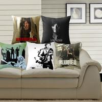 Wholesale Walking Dead Fabric - Pillowcase The Walking Dead Cushion Cover Polyester Cotton Chair Sofa Home Decor Throw Pillow Cover Pillowcase The Walking Dead Cushion Cove