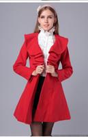 Wholesale girls ruffle winter coats - Women Coat Parka Fashion Slim Fit Gossip Girl Outwear 2017 New Autumn Winter Coat