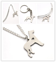 Wholesale great loves - Great Dane Dog necklace charm heart cute pet i love dogs charm pendant necklace bangle keyring bookmark