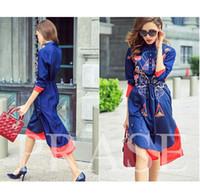 Wholesale Ethnic Print Cloth - UK 2017 Summer Women New Fashion Runway Designer Dress Ethnic Print Asymmetrical Novelty Robe Long Dress Vestido Female cloth