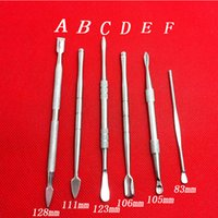 Wholesale stainless ego - Earpick Dry Herb Vaporizer Pen Dabber Tool Wax Dabber Tools eGo Evod Wax Atomizer Cig Stainless Steel Dab Tool Titanium Nail Dabber Tool