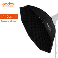 "Wholesale strobe light godox - Wholesale- Godox Pro Studio Octagon Honeycomb Grid Softbox Reflector softbox 140cm 55"" with Bowens Mount for Studio Strobe Flash Light"