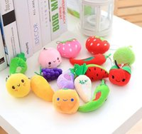 8Avegetables, Fruits, Watermelon, Strawberry Etc. 4-6CM Peluche farcito TOY DOLL, mini regalo Peluche String TOY DOLL