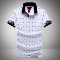 masculino xl venda por atacado-Novos Homens Impresso Camisas 100% Algodão de Manga Curta Camisas Gola Masculina Camisa M-3XL