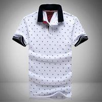 stands al por mayor-Nuevo Mens Camisas Impresas 100% Algodón de Manga Corta Camisas Stand Collar Camisa Masculina M-3XL