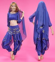 Wholesale Indian Dancing Clothes - Bellydance Wear Women 2017 New Arrval Bollywood Indian Belly Dancing Clothes Waist Chain Hip Scarf Bellydance Belly