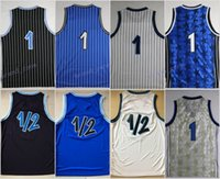 Wholesale Lp Player - Discount 2017 1 Throwback Uniforms Basetball Blue White Black 1 2 LP Penny Anfernee Hardaway Jersey Sport Stitching with player name