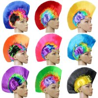 Wholesale wigs dresses for sale - Group buy Punk Hairpiece Halloween Cockscomb Shape Wig Funny Holiday Party Supplies Dresses Headdress Masquerade Periwig Multi Colour jh C R