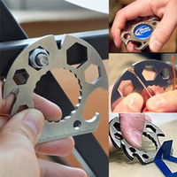multifunktionale werkzeugkarte groihandel-Multi Card Tools Semicircle tool Multifunctional bottle opener Wrench Screwdriver rope cutter Mini EDC Pocket Tools