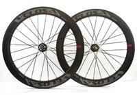 bisiklet disk hub'ları toptan satış-VELOSA! Ücretsiz kargo 60mm derinlik Kattığı karbon tekerlek 25mm genişlik disk fren yolu bisiklet tekerlek Novatec771 ile / 772 hub U-şekilli jant